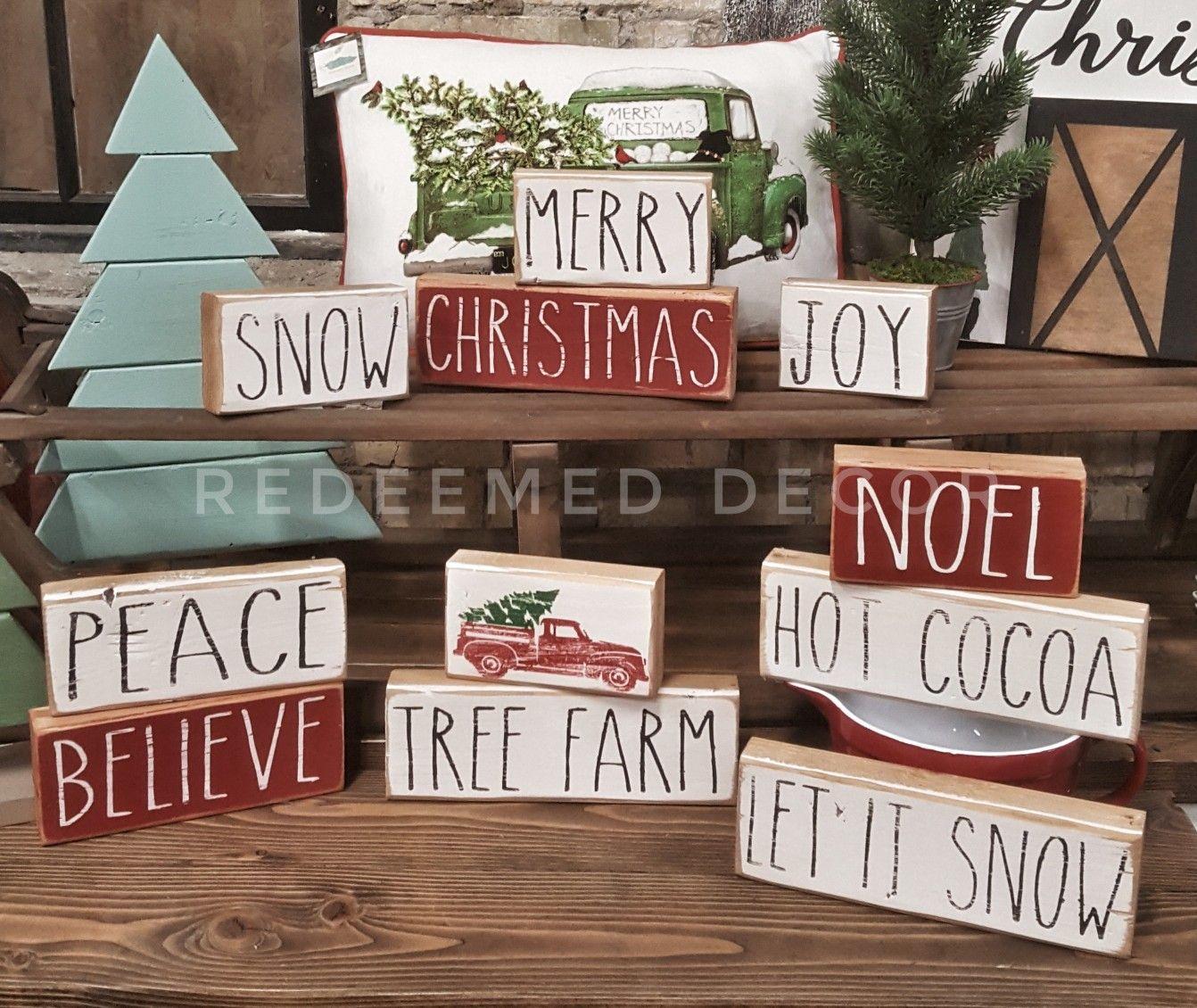 Farmhouse Christmas Rae Dunn Inspired Stencil Pack Etsy Christmas Signs Christmas Wood Christmas Crafts Diy