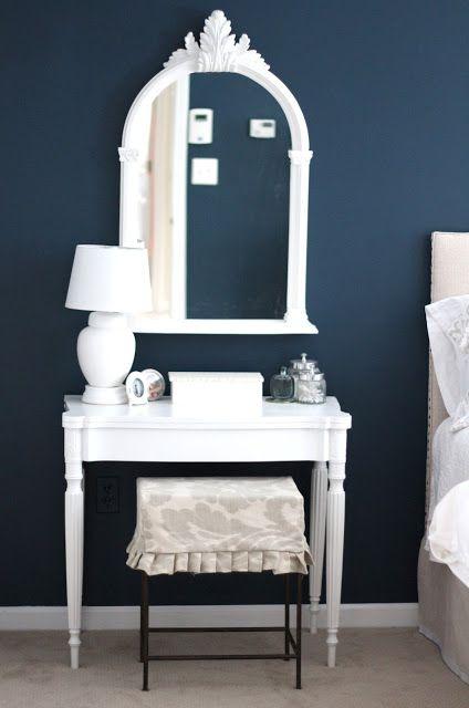 Benjamin Moore Gentleman\u0027s Gray Dark Blue Bedroom Paint Color