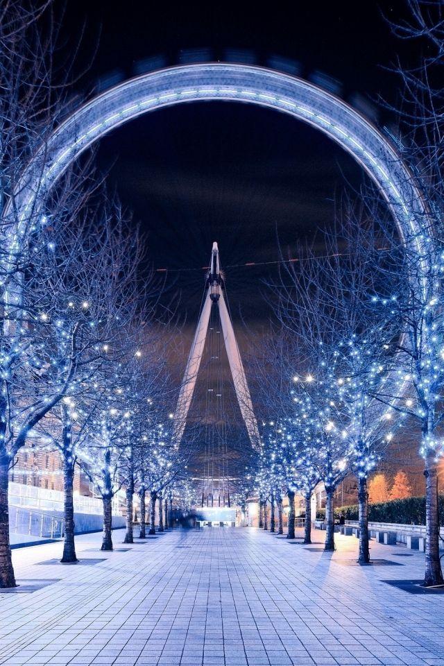 Download Wallpaper 640x960 London eye, Ferris wheel