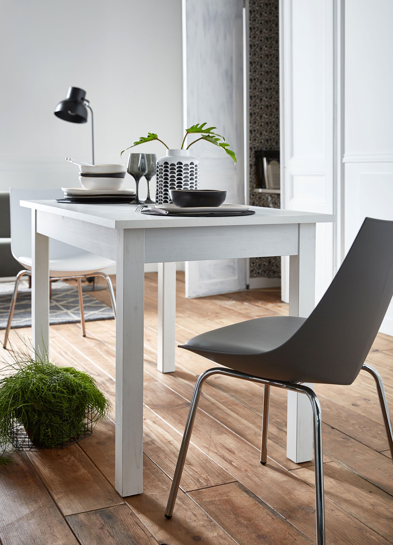 yvon table de repas blanche extensible decoration deco