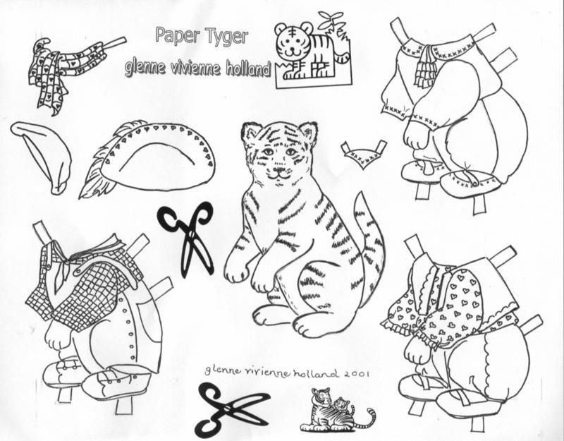 Animal Paper Dolls   Arielle Gabriel Animal Paper Dolls