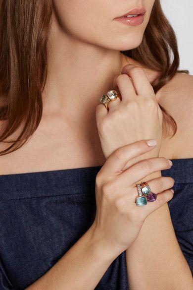 Pomellato | Nudo Classic 18-karat rose gold amethyst ring | NET-A ...