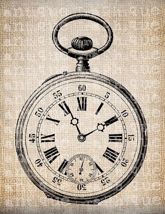 Antique Victorian Pocket Watch Time Piece by AntiqueGraphique, $1.00