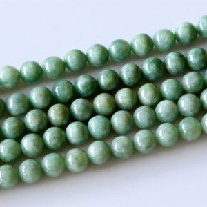 4mm 6mm 8mm  White Jade Gemstone Round Loose Bead 15/'/'