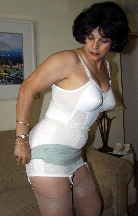 wearing girdles grannies Busty