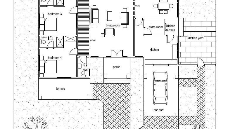 Ohene House Plan Ghana Architects Ghana House Plans