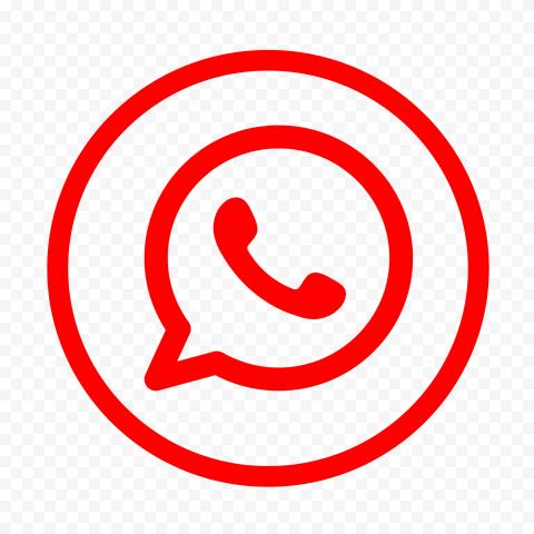 Hd Red Outline Whatsapp Wa Round Circle Logo Icon Png Circle Logos Logo Icons Logos