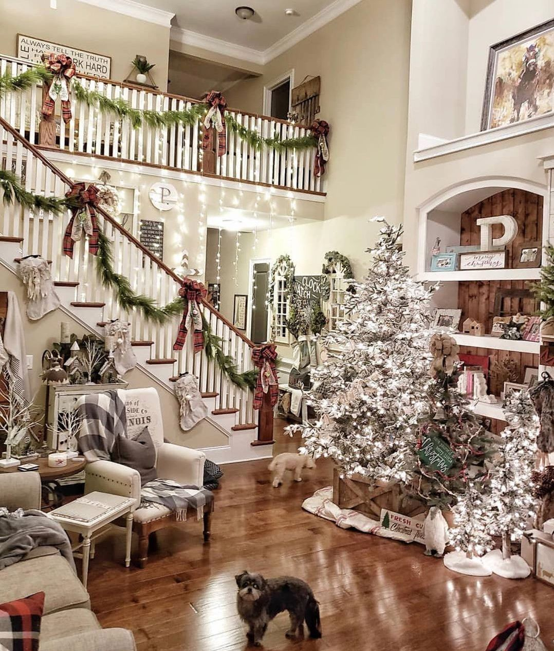 50 Christmas Decorating Ideas For A Joyful Holiday Home Do It Before Me Christmas Staircase Christmas Staircase Decor Outside Christmas Decorations