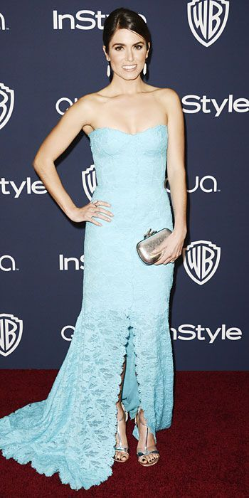 Look of the Day - January 14, 2014 - Nikki Reed in Monique Lhuillier #InStyle  #love #instagood #pho...