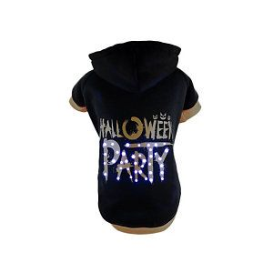 Pet Life LED Lighting Halloween Party Hooded Sweater Pet Costume – Large