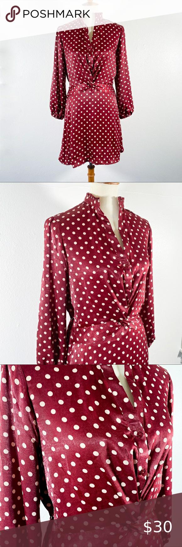 Silky Polka Dot Zara Dress Zara Dresses Dresses Dot Dress [ 1740 x 580 Pixel ]