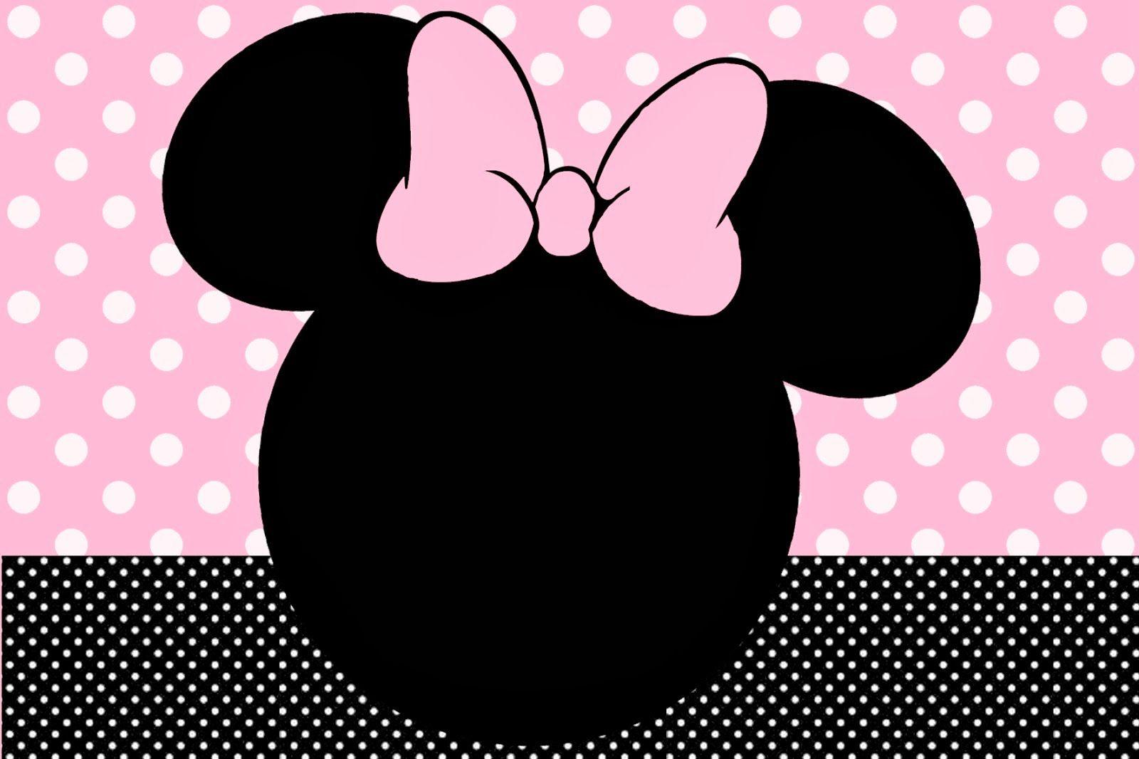 Minnie Rosa Invitaciones Imprimibles Imágenes Y Fondos