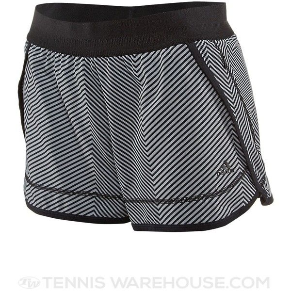 adidas Women's Summer Powerluxe Chevron Short (135 BRL) ❤ liked on Polyvore featuring adidas