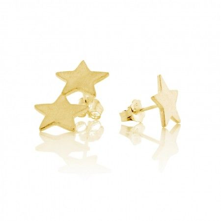 Star Stud Earrings- Gold Vermeil - Daisy Knights