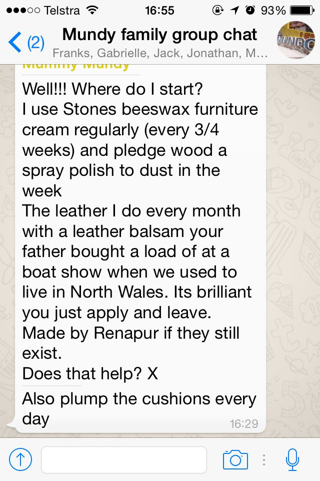 Furniture advice from mumma