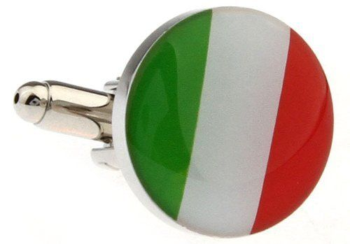 "Round Italy Italian Flag Cufflinks Cuff Links DGW Cufflinks. $33.88. Comes packaged in a Limited Edition Collectors Storage Box!. Free Gift Wrapping with each order!. Approximately 3/4"" x 1/2"""