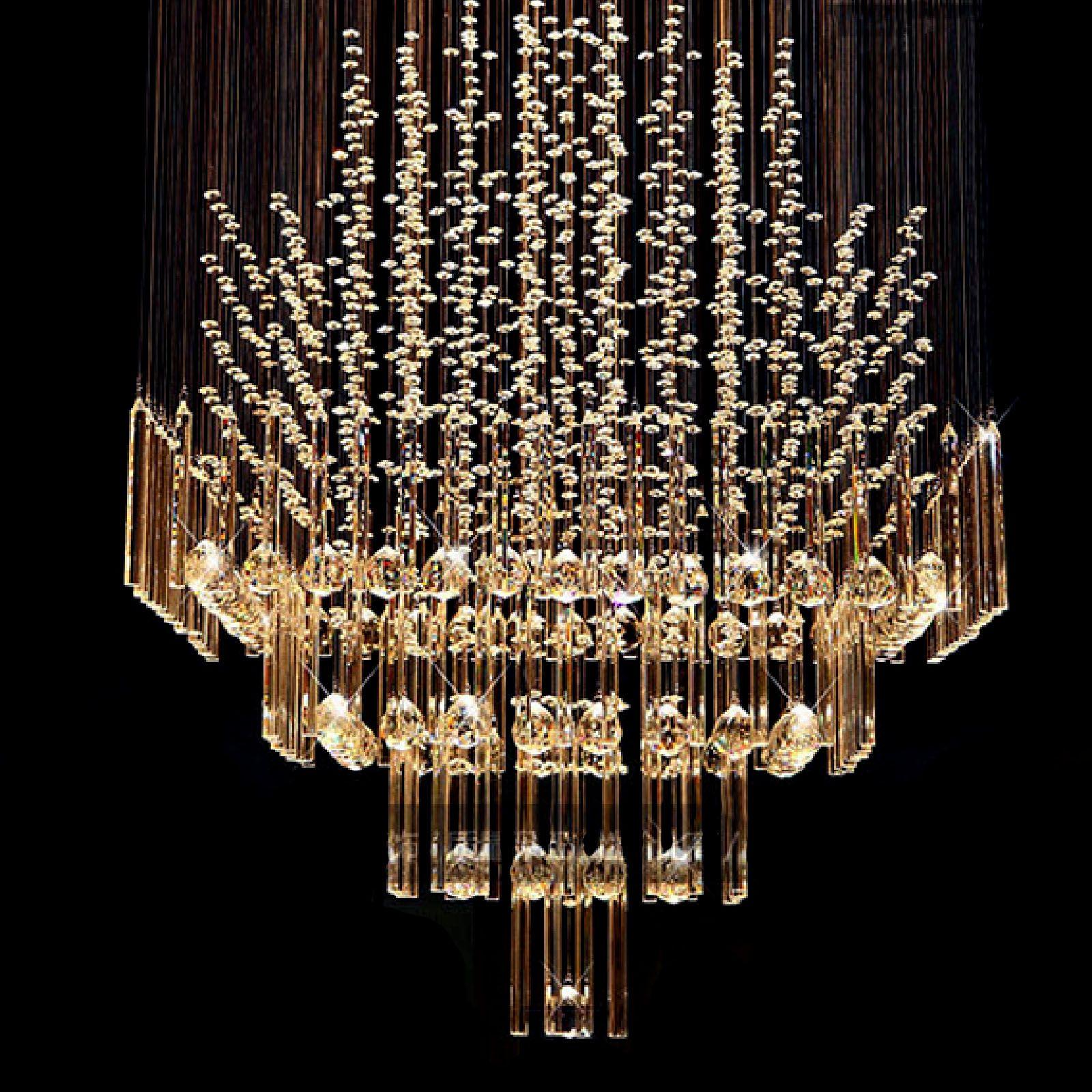 Byb 174 Modern Chandelier Rain Drop Lighting Square Crystal