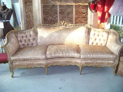 450 Beautiful Antique Vintage French Provincial Sofa Carved Wood