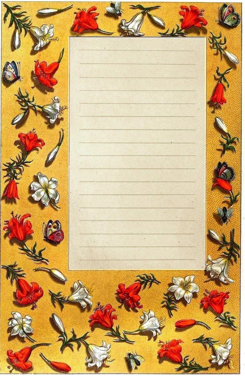 Design paper border medieval 3 vintageprintable for Paper border