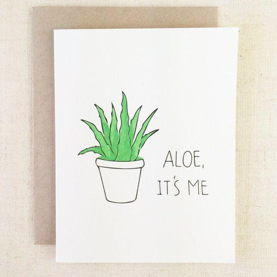 Aloe Ich bin es | Lustige Freundschafts-Karte, Liebes-Karte, lustige Beileidskarte, denkend an Sie, Freundinkarte, Karte für ihre Karte für Freund #beileidskarte #freundschafts #karte #liebes #lustige