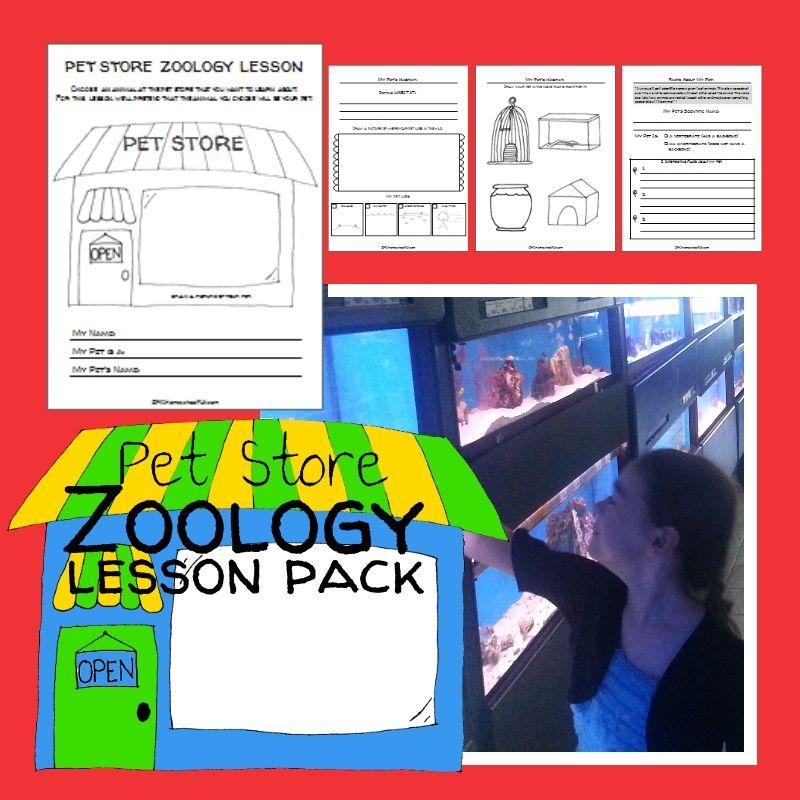 Pet Store Zoology Lesson Pack | PK1HomeschoolFUN