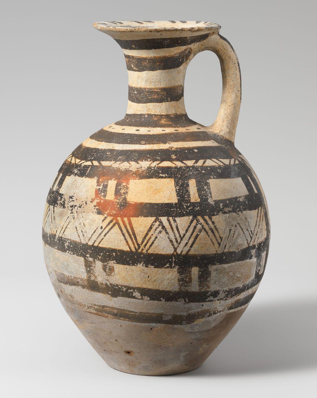 Terracotta jug  Period: Early Cycladic III–Middle Cycladic I Date: ca. 2300–1900 B.C. Culture: Cycladic Medium: Terracotta Dimensions: H. 10 5/8 in. (27 cm)