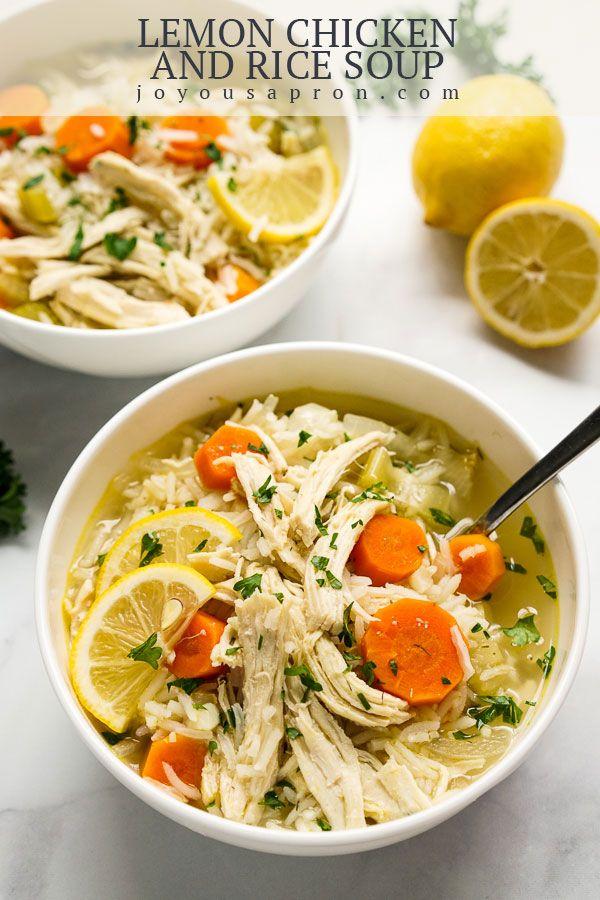 Lemon Chicken and Rice Soup (30-Minute One Pot Meal!) - Joyous Apron