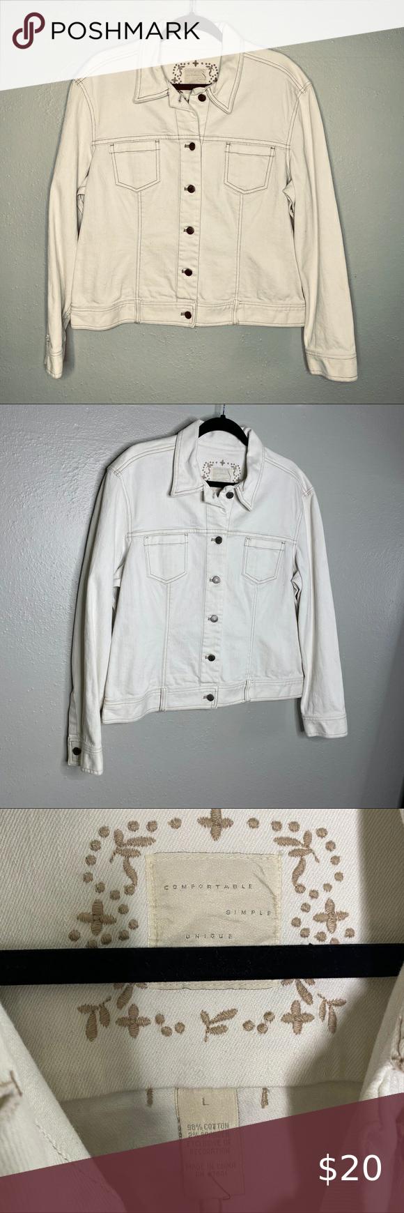 J Jill Beige Denim Jean Jacket Large Denim Jacket Women Brown Denim Jacket Lightweight Denim Jacket [ 1740 x 580 Pixel ]