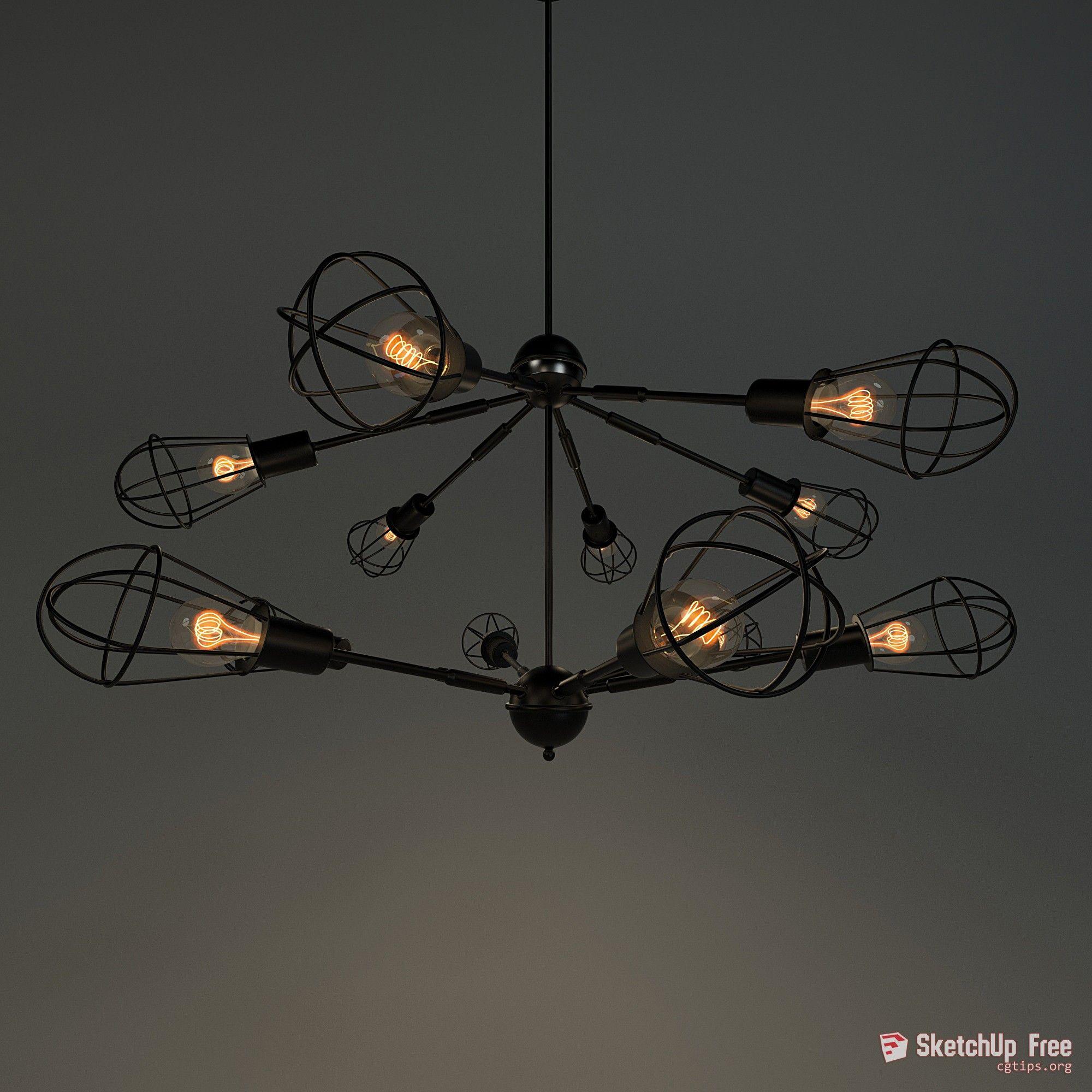 272 Ceiling Light Sketchup Model Free Download