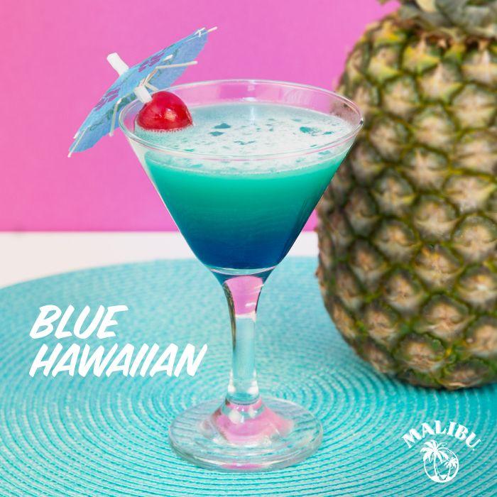 Malibu Blue Hawaiian! 2 Parts Malibu Rum, 2 Parts