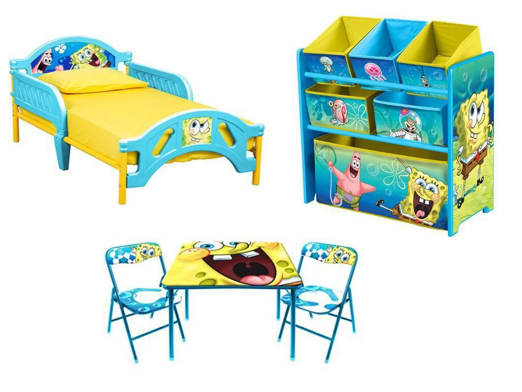 This Spongebob Squarepants Bedroom Set Features A Toddler Bed Toy