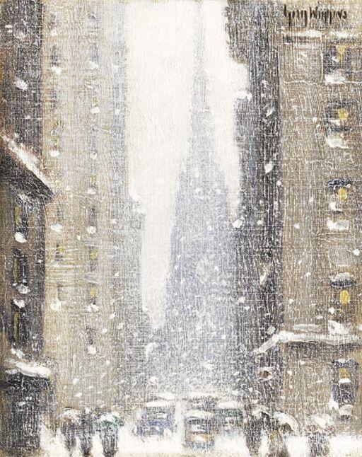 Wall St. Winter, 1939, Guy Wiggins. American (1883 - 1962)