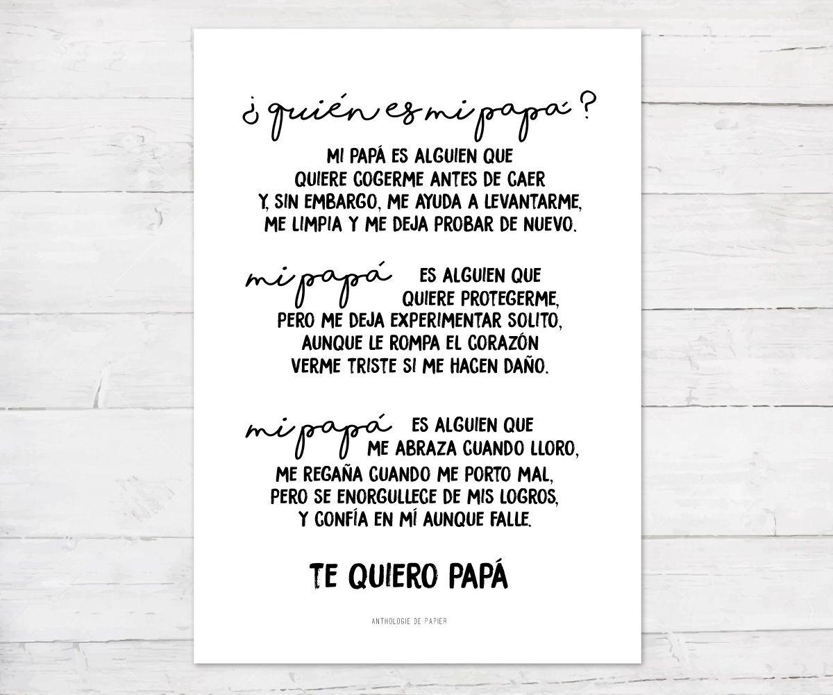 Lámina Quién Es Mi Papá Tutete Regalos Originales Para Papa Carta A Mi Abuelo Regalos Para Padres
