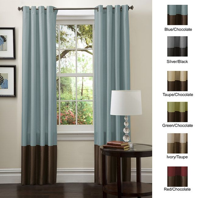 Color Block Curtains Panel Curtains Brown Curtains