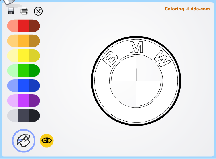 Bmw Logo Coloring Pages Online Cars Logos Rhpinterest: Coloring Pages Car Logos At Baymontmadison.com
