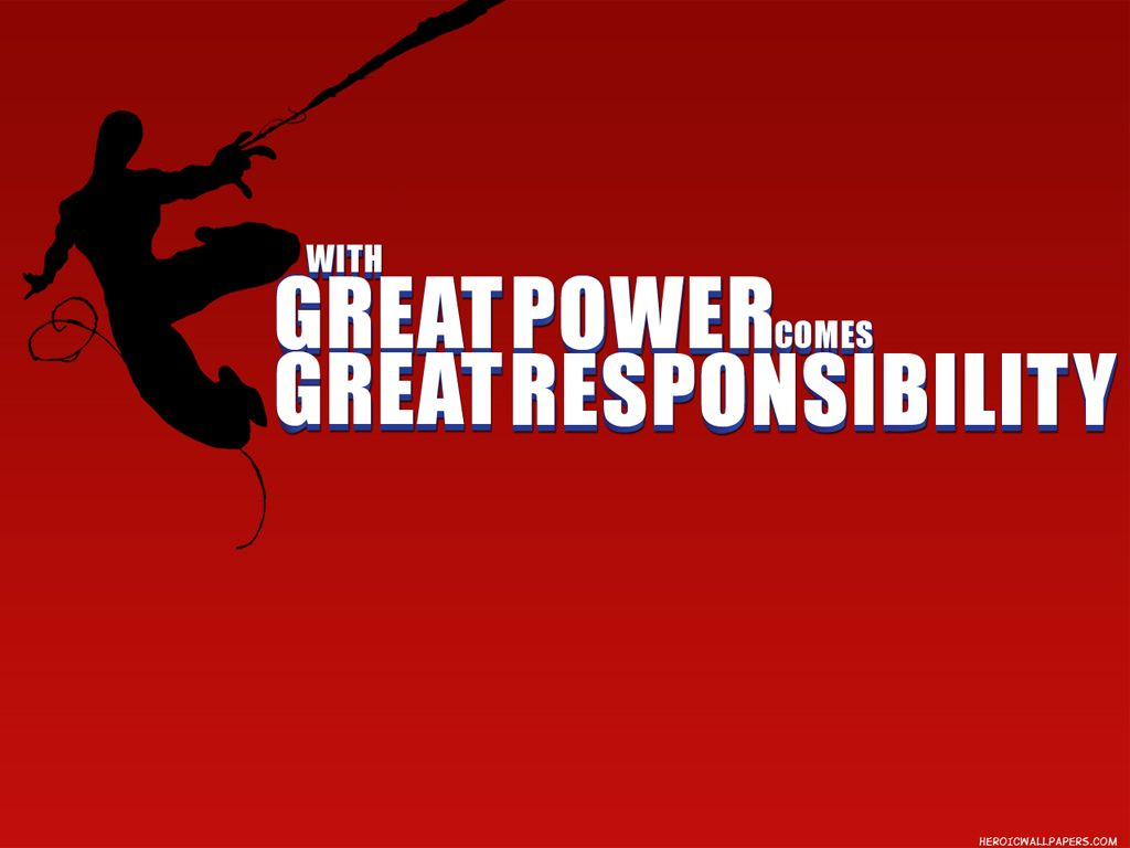 Picture Quote Maker With Great Power Comes Great Responsibility Quote Quote Maker For