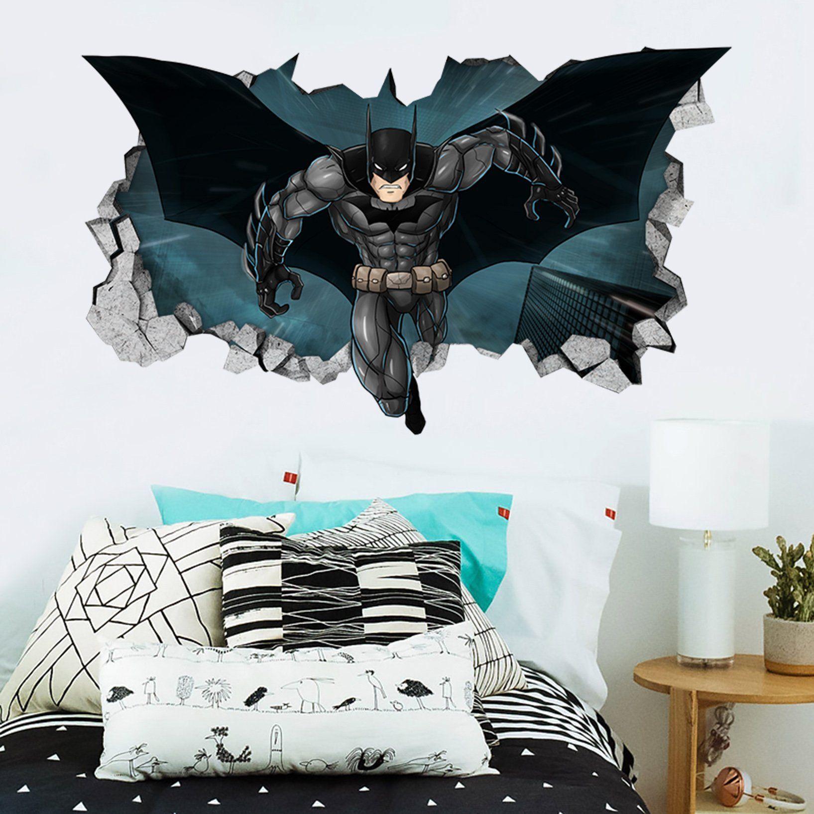 BATMAN V SUPERMAN Smashed Wall Decal Graphic Wall Sticker Art Wonder Woman H371