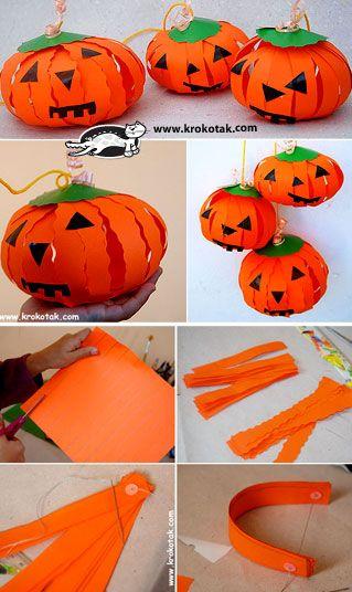 Fabriquer des citrouilles en papier Halloween