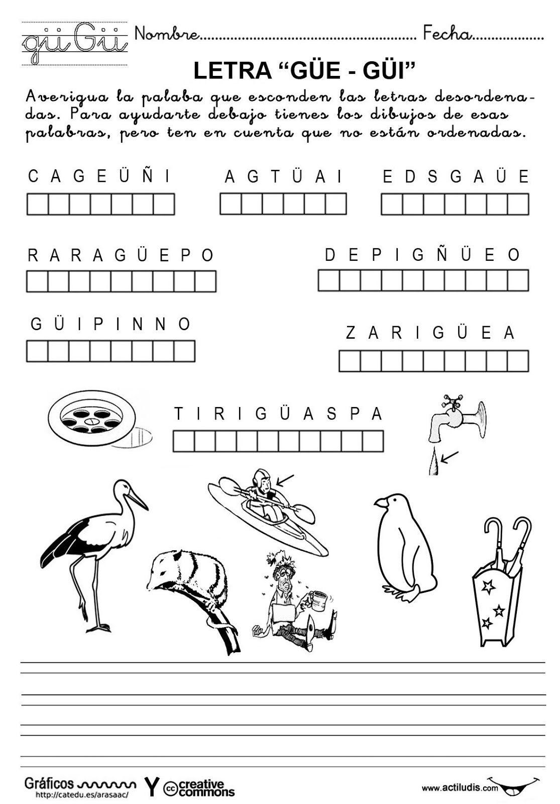 Algunas Fichas Para Trabajar La Lectoescritura Actividades