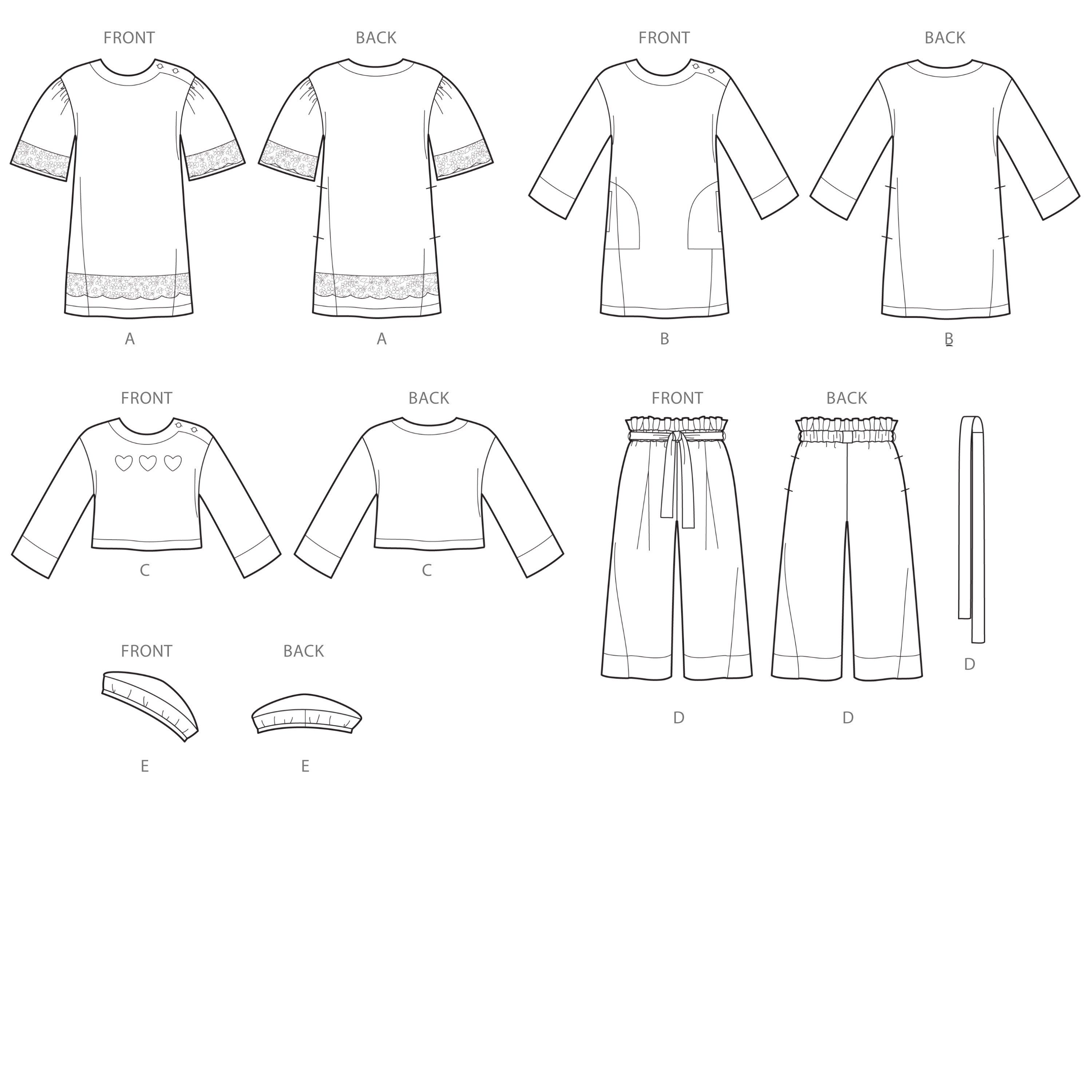 Simplicity Sewing Pattern S8964 Children's Dresses, Tops