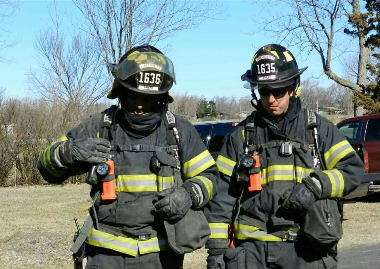 I'm on the left. Fire academy. Red crew!! Firefighter