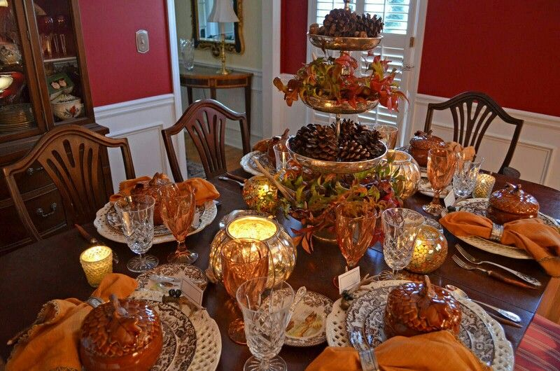 Beautiful Thanksgiving Table Setting : table settings for thanksgiving ideas - pezcame.com