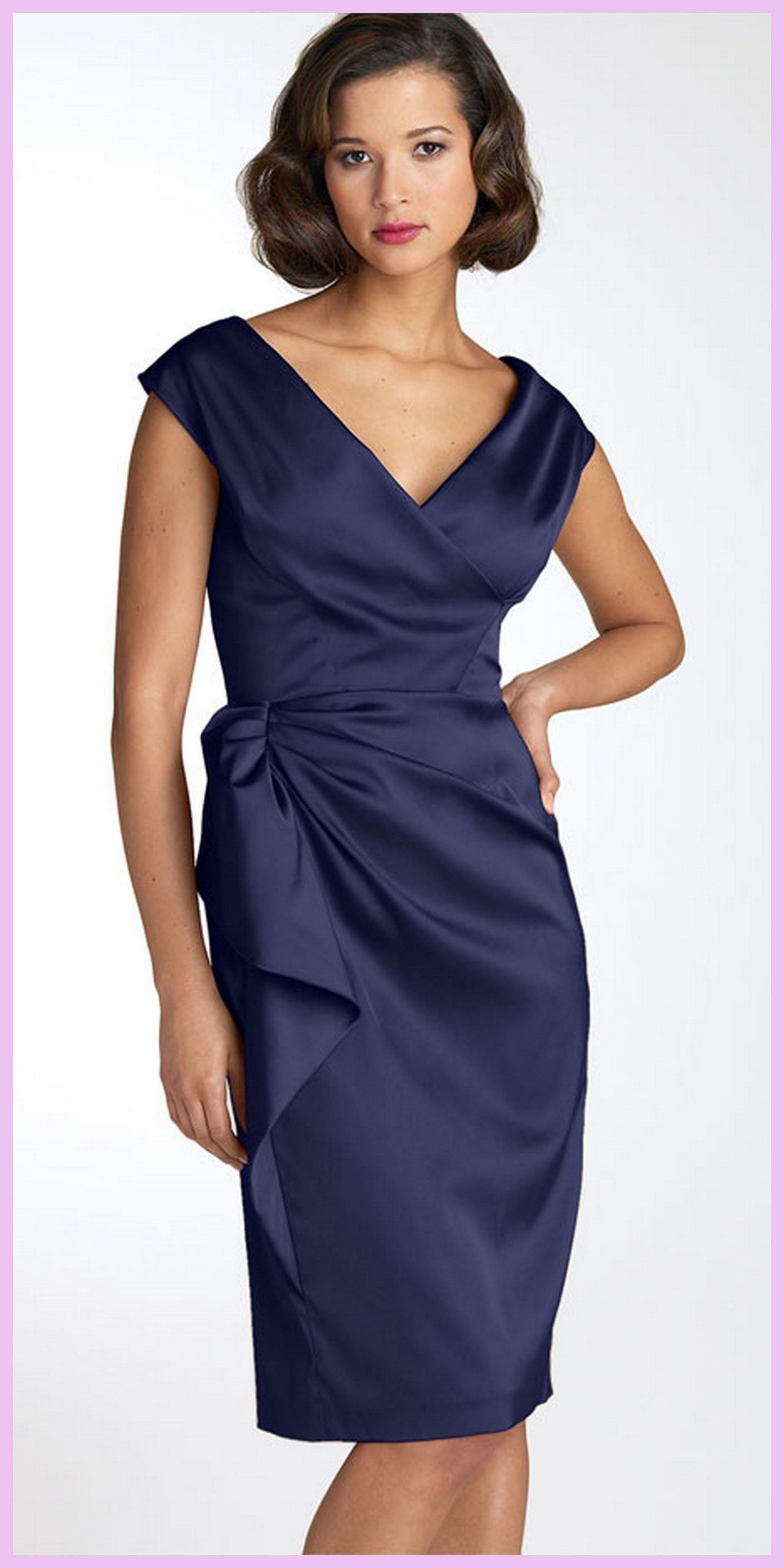 e04b51d16b Maggy London Stretch Satin Sheath Dress available at. Mother of the Bride  dress