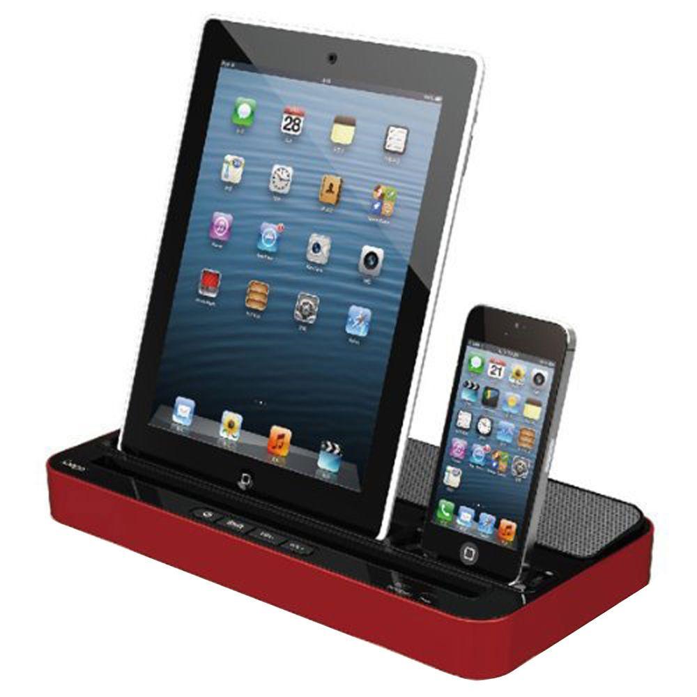 dual docking station charger speaker for iphone 4s 5s 6. Black Bedroom Furniture Sets. Home Design Ideas