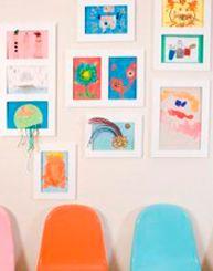 Geweldig, deze lijsten. Vanaf nu eenvoudig de tekening van uw kind ophangen, maar ook handig om telkens te wisselen!