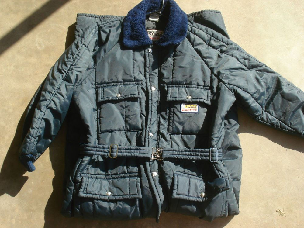 Vintage Walls Blizzard Pruf Snow Suit Coveralls Insulated Navy