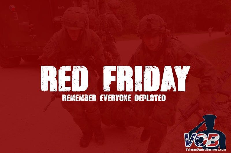 Red Friday Veteran Owned Business Military Veterans