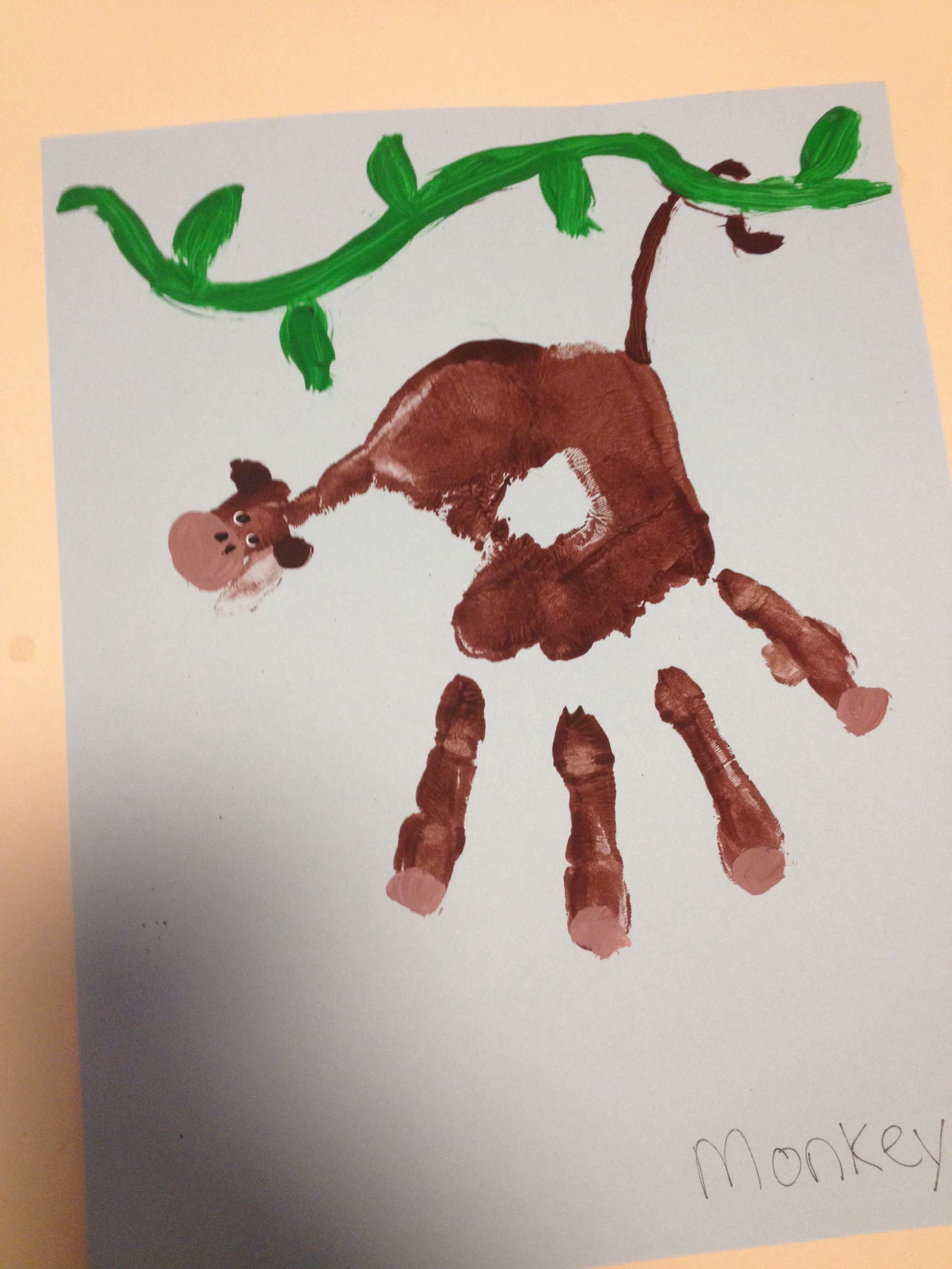 Monkey Handprint Art