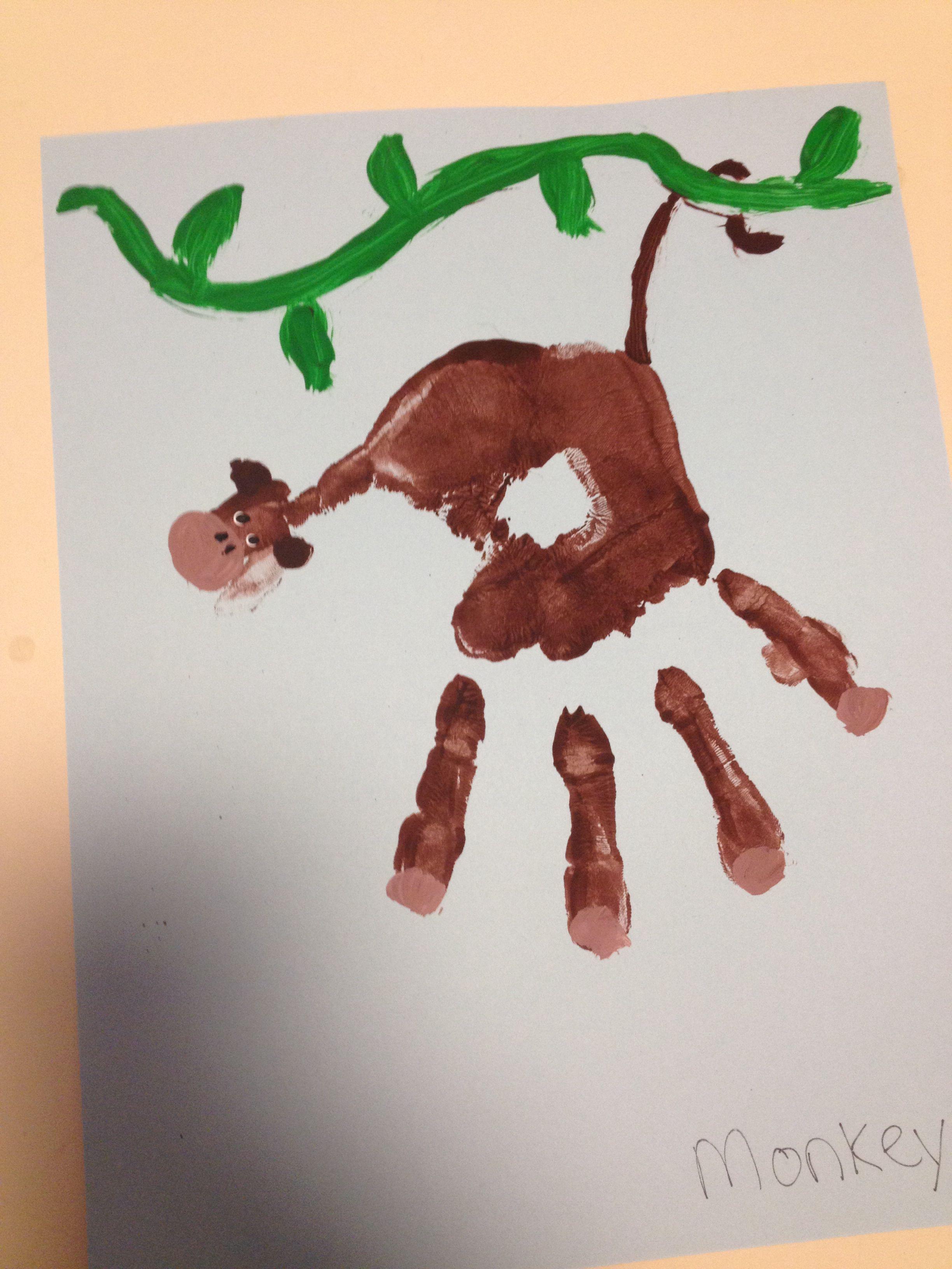 Monkey Handprint Art