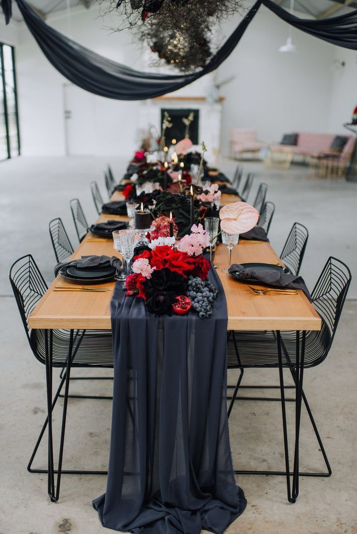Consider this rich industrial wedding inspiration perfect eye candy for the offbeat bride. A…